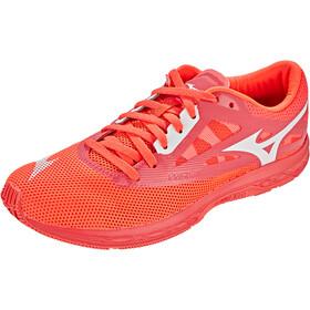 Mizuno Wave Sonic 2 Chaussures de trail Femme, fiery coral/white/black